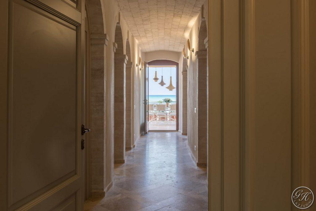 Villa Galatea, vista sul mare dall'interno della villa - GH Lazzerini, San Vincenzo - Toscana