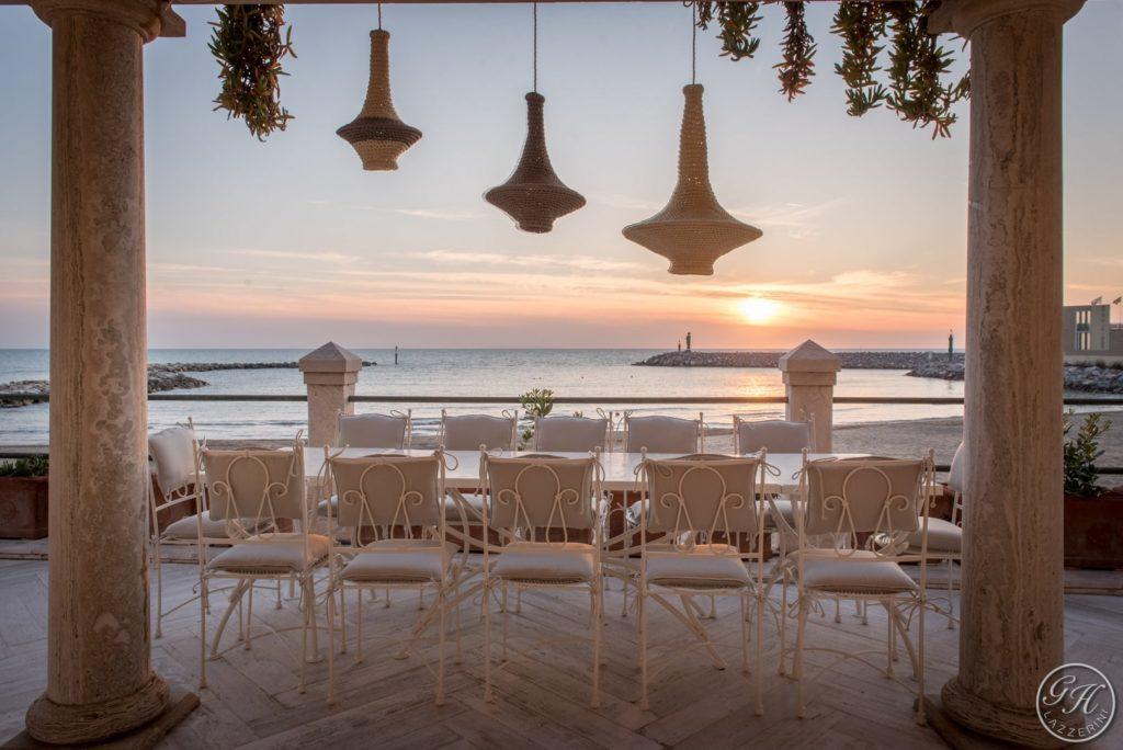 Tramonto sulla terrazza sul mare di Villa Galatea, San Vincenzo - GH Lazzerini, Toscana