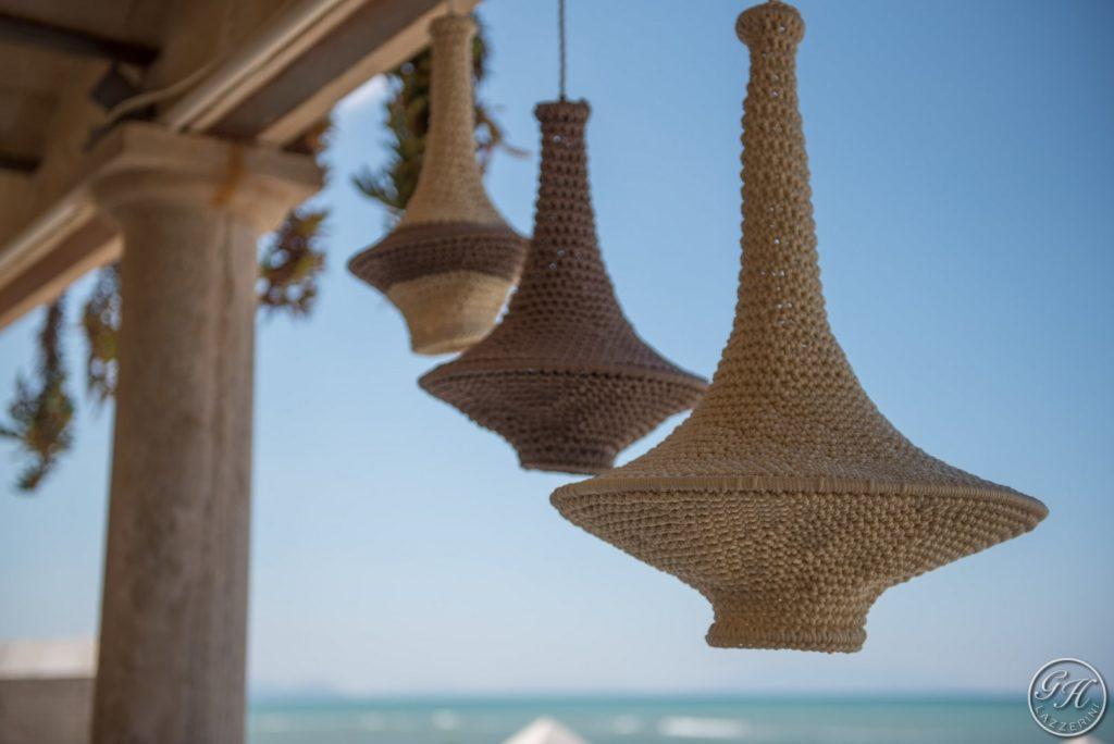 Dettaglio,illuminazioni. Terrazza sul mare, Villa Galatea - GH Lazzerini, San Vincenzo - Toscana